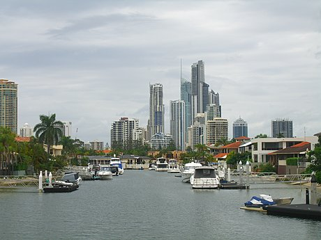 Surfers Paradise from the Nerang River
