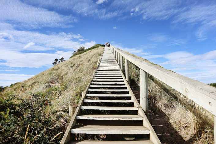 Stair way to the Iconic image of Truganini lookout.