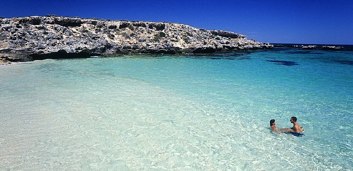 Swimming in Little Salmon Bay Rottnest Island