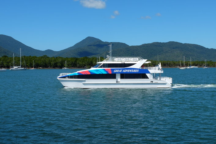 45 minute fast catamaran journey from Cairns
