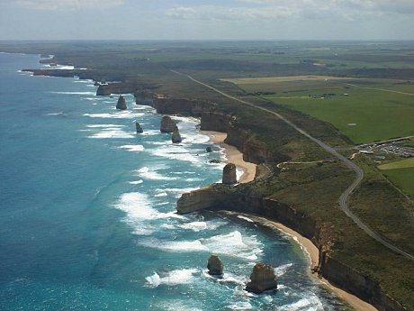 Aerial of the Great Ocean Road