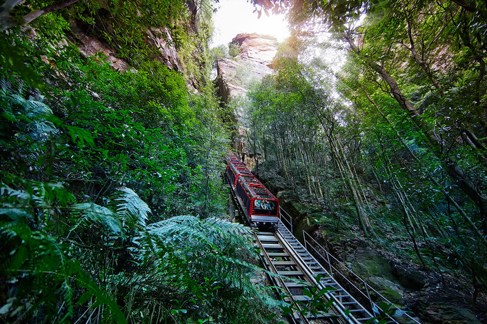 Scenic World - incline railway