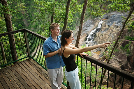 Skyrail's look-outs provide unrivalled views of the spectacular Barron Falls and Gorge.