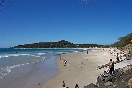Main beach at Byron Bay