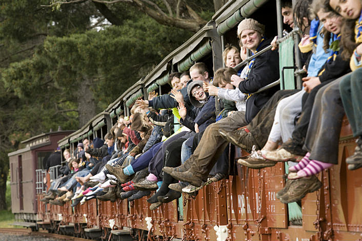 Passengers on Puffing Billy