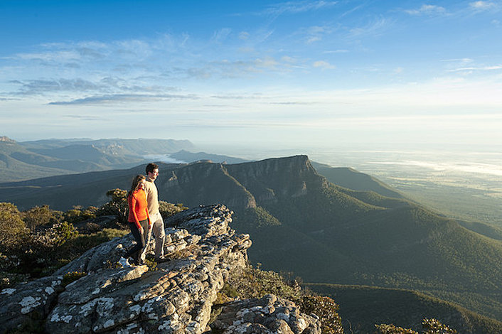 Looking out over the Grampians