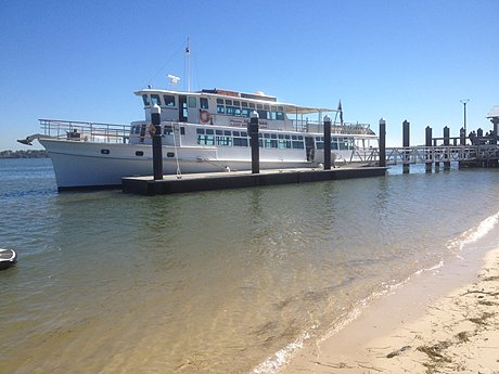 Lady Brisbane at Bongaree Jetty, Bribie Island