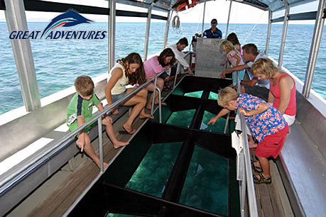 Choice of a glass bottom boat tour