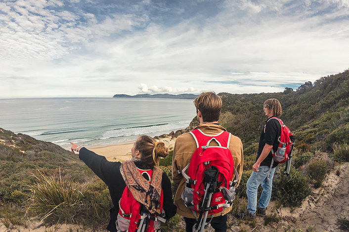 Looking South on our Bruny Island Walking Tour