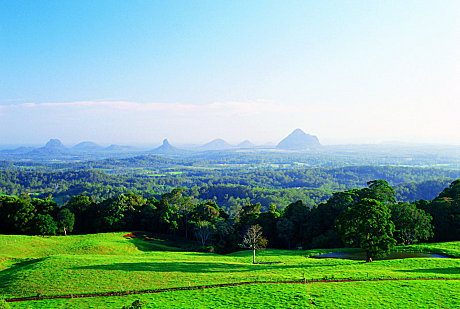 view in Glass House Mountains