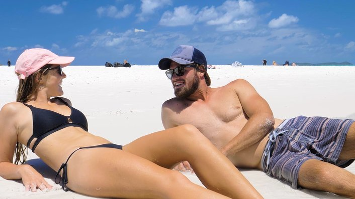 Relax on Whitehaven Beach