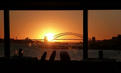 View from inside Sydney 2000