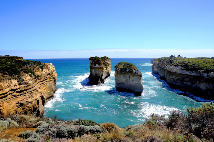 The collapsed Island Archway in the Port Campbell National Park