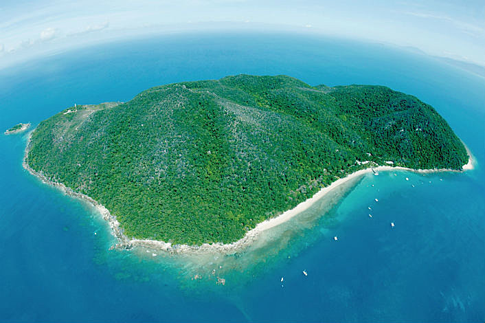 Aerial view of Fitzroy Island