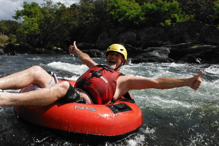 Tubing on the Mulgrave River