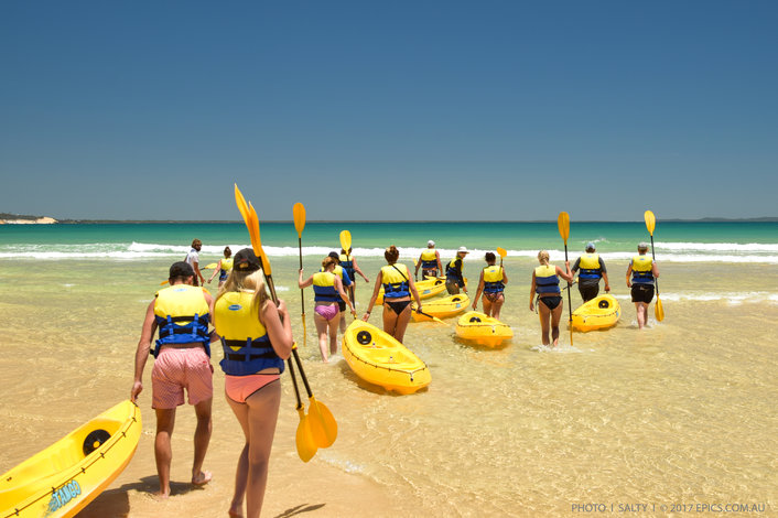 A typical winters day kayaking Noosa