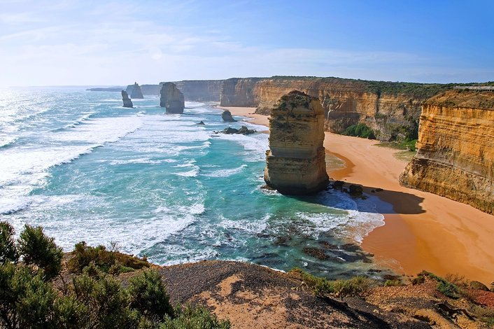 The Twelve Apostles in the Port Campbell National Park