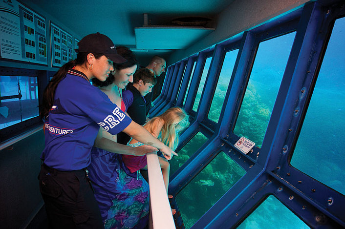 Outer Reef: Discover in the underwater observatory