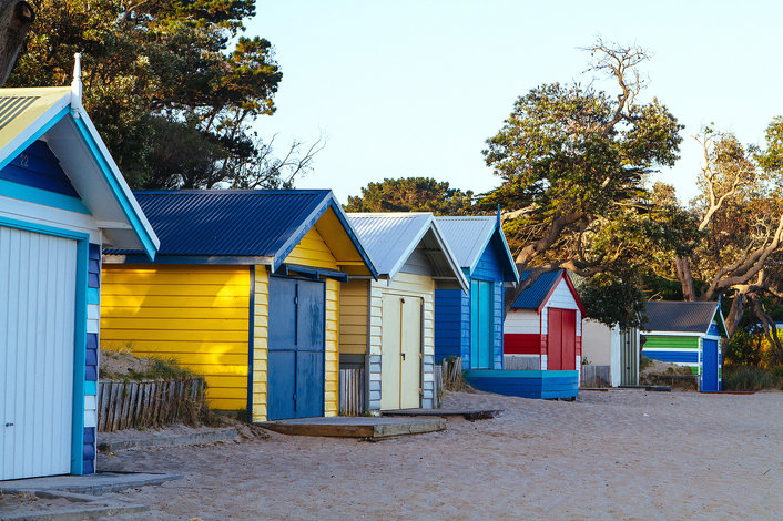 Melbourne Colourful Seaside Beach Box - Brighton