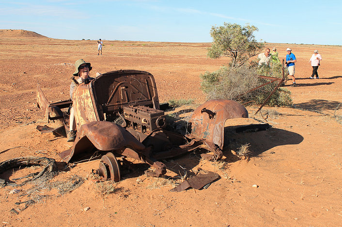 old wreck on the Birdsville Track
