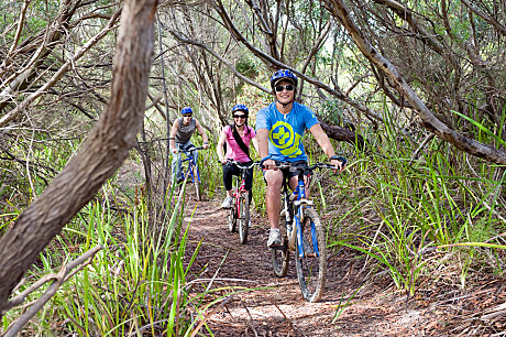 Mountain Bike Riding at Vivonne Bay