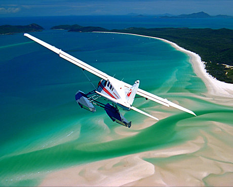 The best approach to Whitehaven Beach