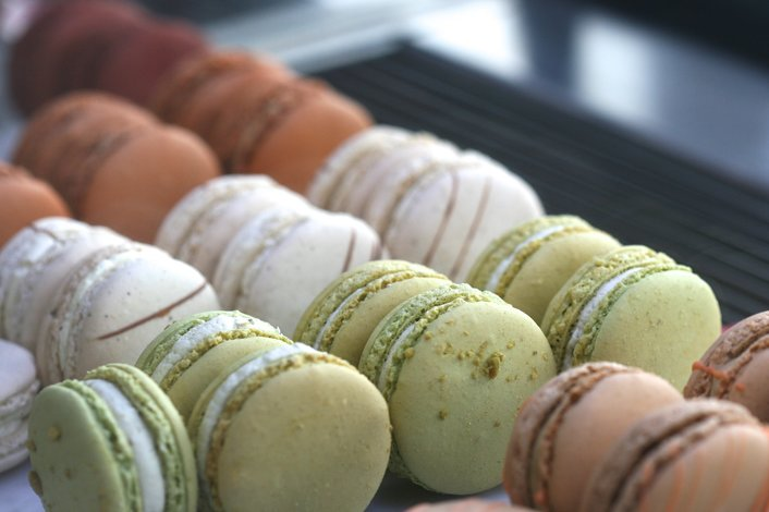 Of course there's macarons