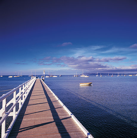 Peninsula pier and Port Phillip Bay