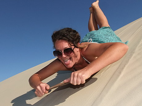 Sand Boarding with Adventure Moreton Island