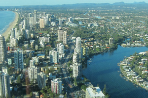gold coast from a helicopter