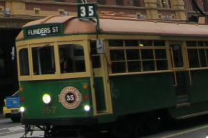 Flinder's street tram