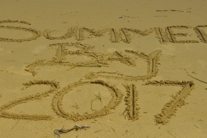 Sand writing Home and Away