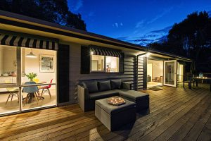 Night time on the verandah at Cloud 9 Cottage