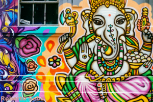 colourful Street Art Elephant