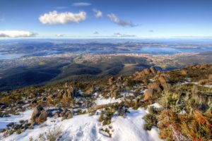 Snow on Mt Wellington