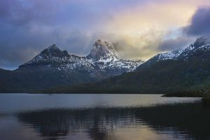 The sun over Cradle Mountain