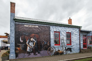 Mural of Farrier Sheffield Tasmania