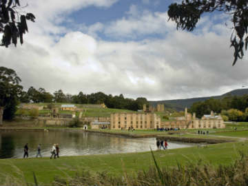 Port Arthur from across the lake