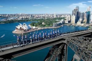 Climbing group on Sydney Harbour Bridge