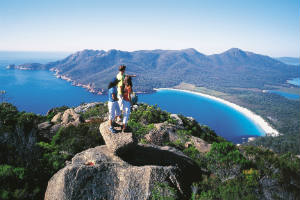 lookout over Wineglass Bay Tasmania