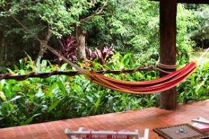Hammock on a balcony at Cedar park Resort