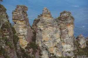 Close up view of the three sisters