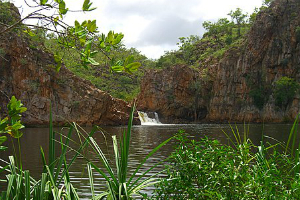 waterfall into Katherine Gorge