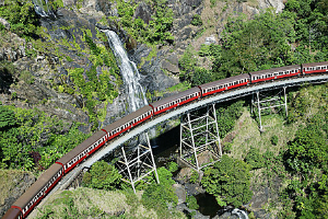 The Kuranda Scenic Train at Stoney Creek