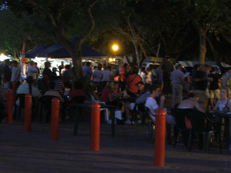Night scene of Mindle Beach Markets