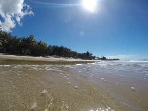 Shot from bach level at Four mile Beach Port Douglas