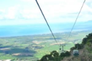 Skyrail Gondala coming towards Cairns