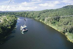 Skyrail Gondola over the Barron River near Cairns