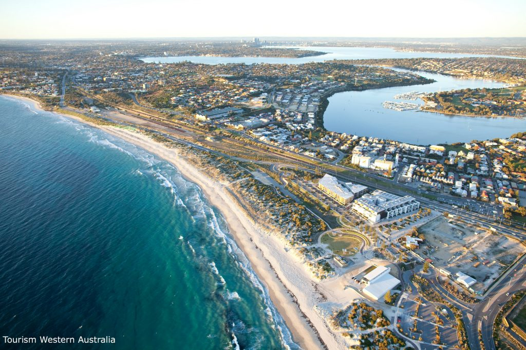 Aerial view of Fremantle Coastline