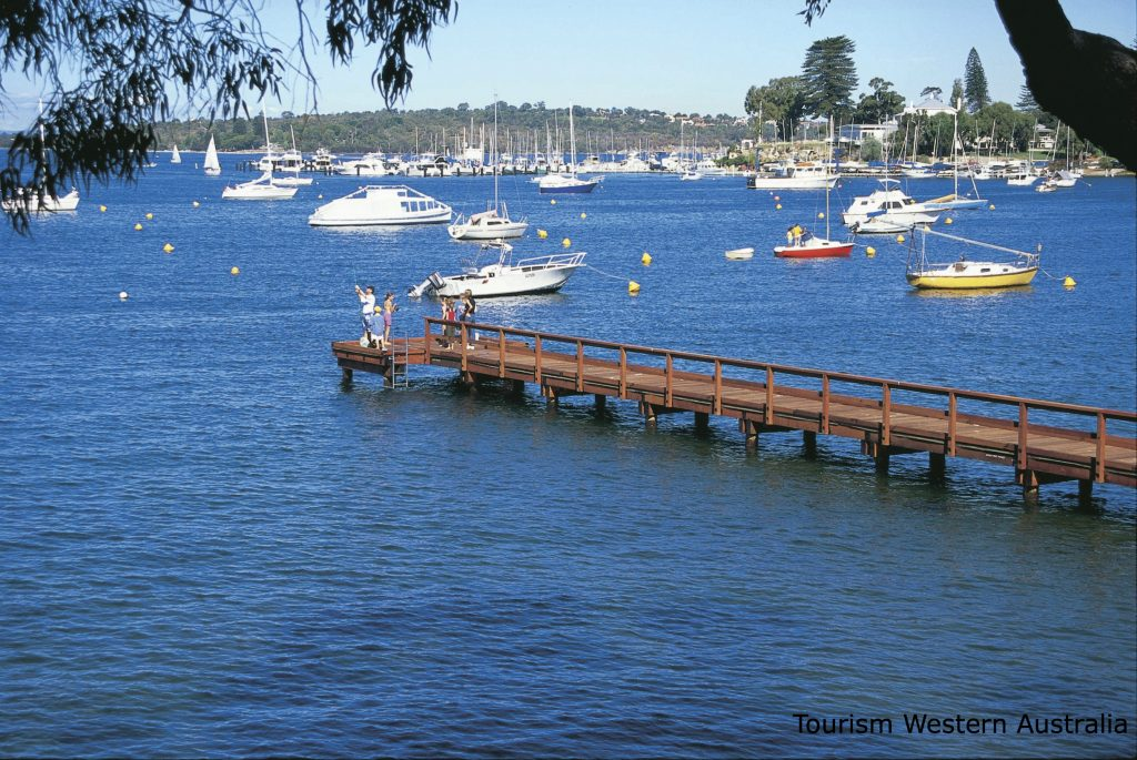 Jetty over the Swan River